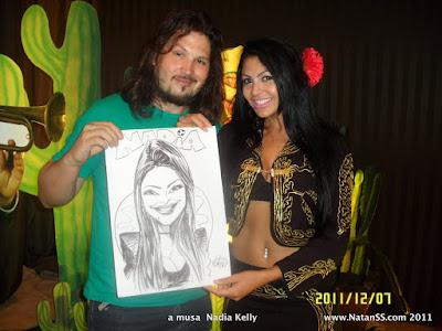 caricatura Natan SS Kelly Musa do Brasileirão Curitiba