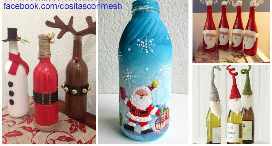 Manualidades - Botellas decoradas navidenas ...