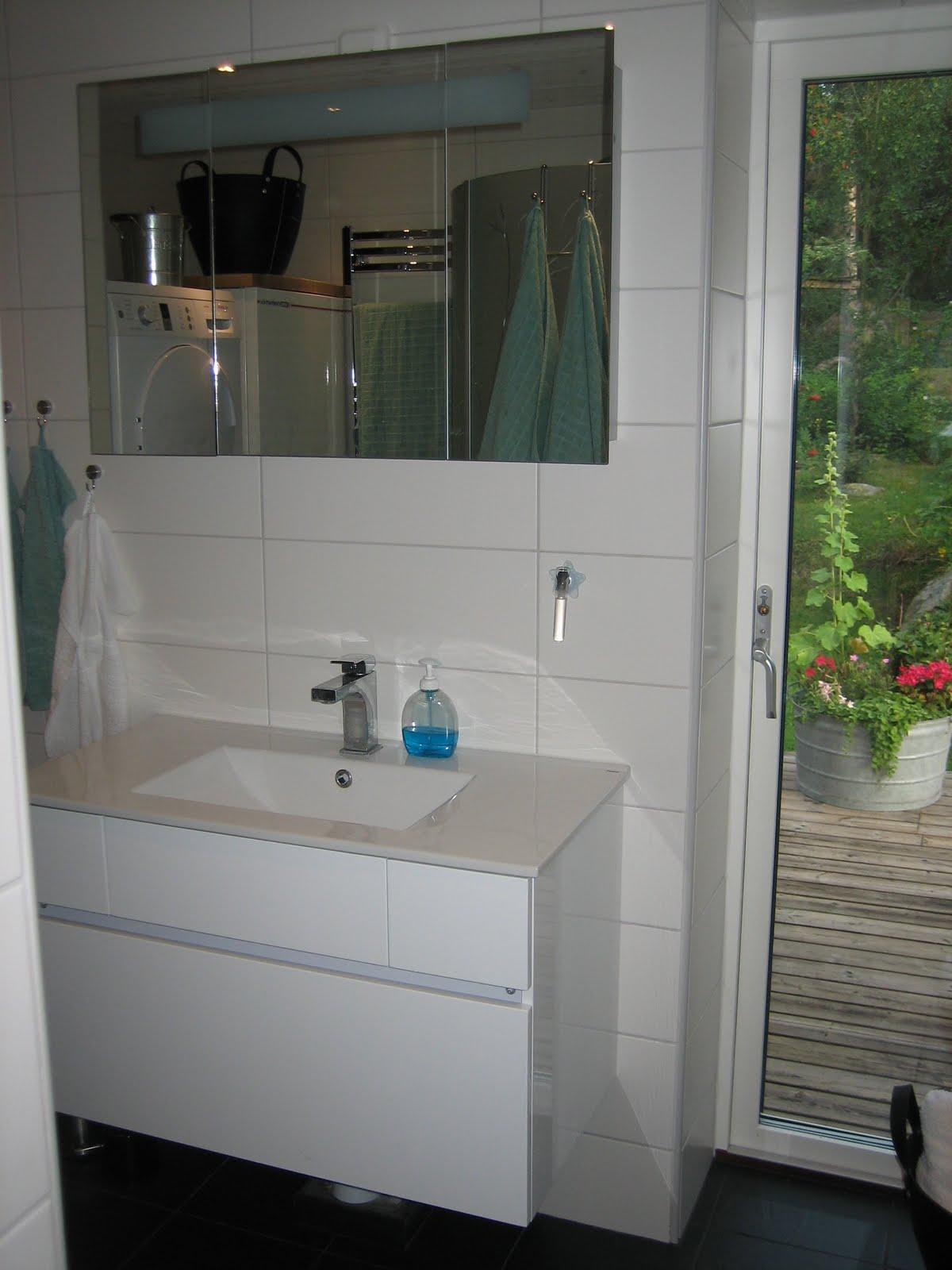 Tallgläntan: färdiga badrummet
