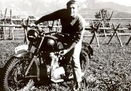 I want to be more like Steve McQueen!  A motorcycle is just what I need!