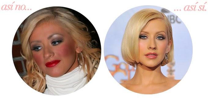 Christina Aguilera errores maquillaje