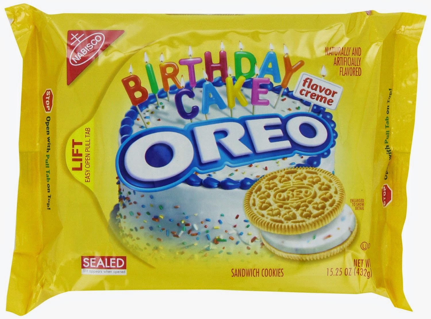 Giveaway Guy Review Oreo Golden Birthday Cake Sandwich Cookies