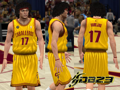 NBA 2K13 Cleveland Cavaliers Fictional Noche Latina Jersey Mods