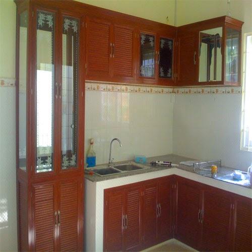 tủ bếp nhôm kính treo tường 6