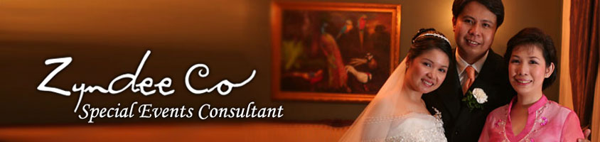 Zyndee Co - Special Events Consultant - Philippine Wedding Planner
