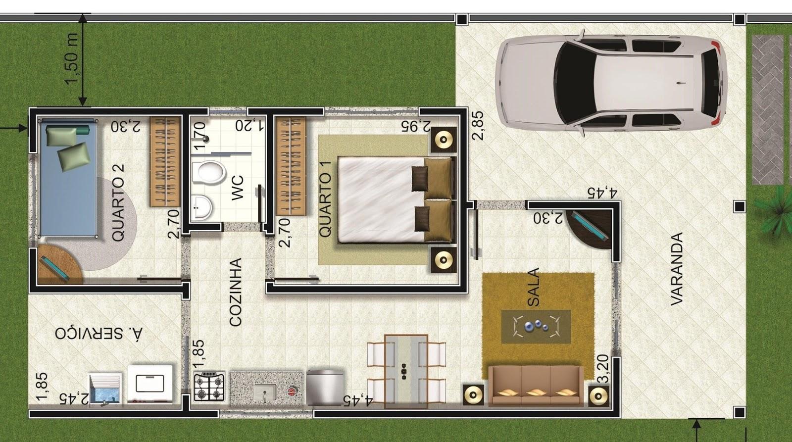 Brolezzi constru oes for Modelos planos de casas para construir