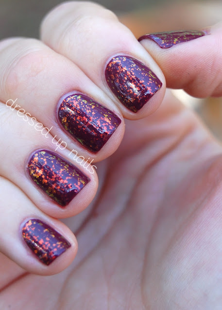 China Glaze Purr-fect Plum and Finger Paints Flashy