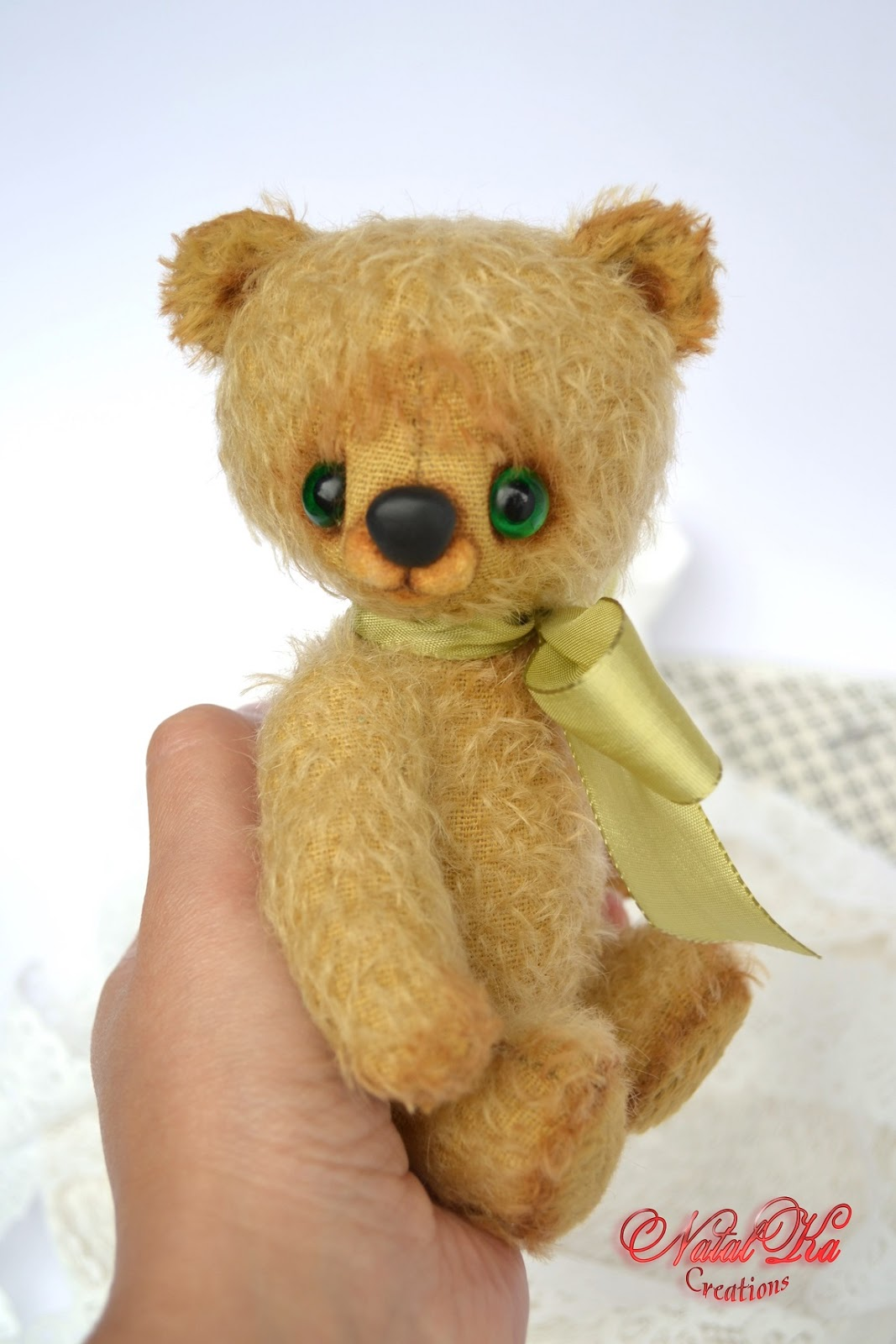 Künstlerbär Teddybär Teddy handgefertigt aus Mohair von NatalKa Creations. Авторский мишка медвежонок медведь тедди ручной работы из мохера от NatalKa Creations