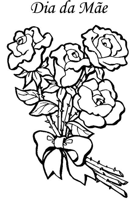 Desenhos Para O Dia Das M  Es E Pe  A Para A Cria  A Pintar E Decorar
