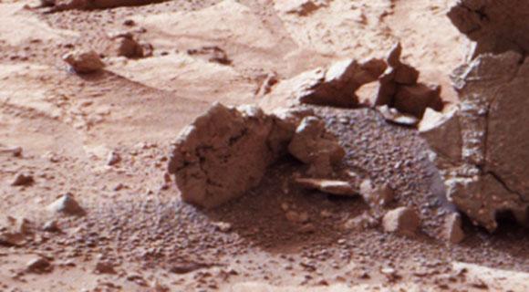 ¿El fósil de un alienígena en una imagen del Curiosity?