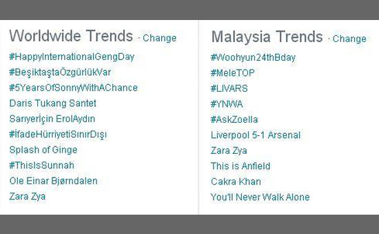 Zara Zya - Top Trending Twitter Feb 2014