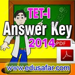 TET -I Provisional Answer Key-2014