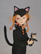 Kitty girl with kitty toy