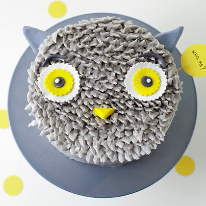 DIY Gray Owl Cake Decorating Tutorial