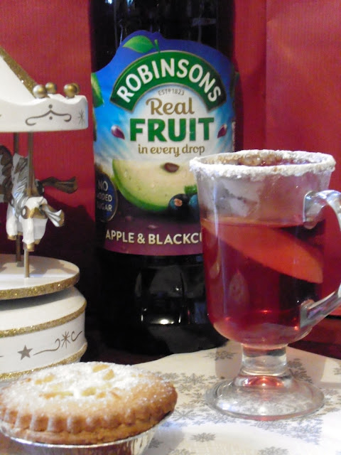warm winter cocktail with Robinsonnon-alcoholic party drink