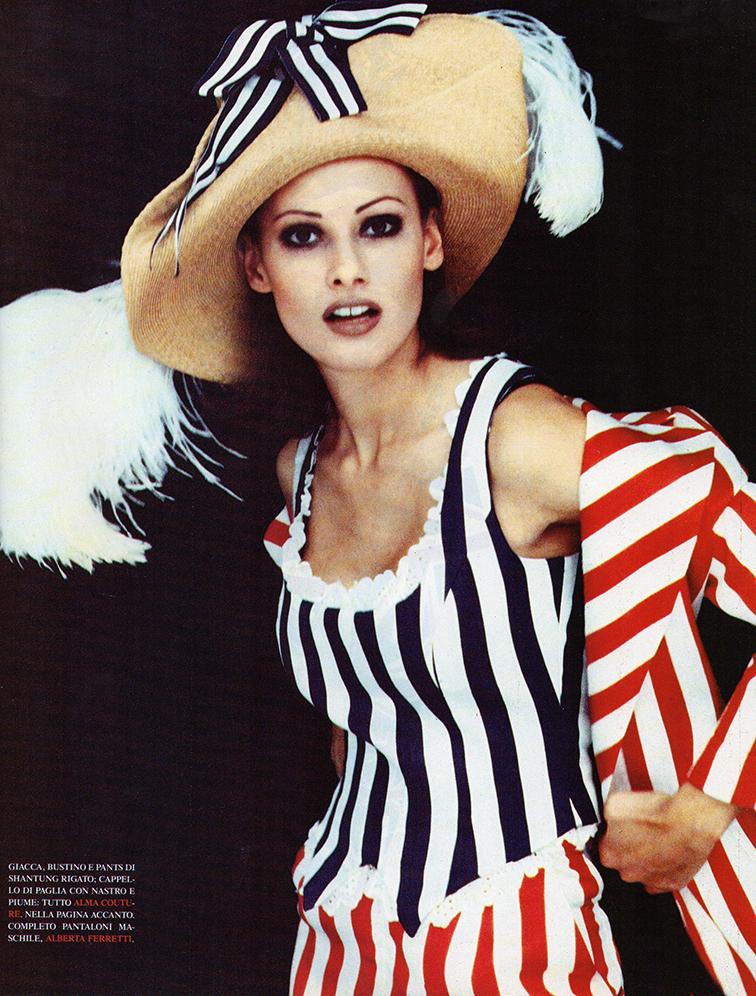 Vogue Italia February 1993 - Camilla Nickerson by Steven Meisel