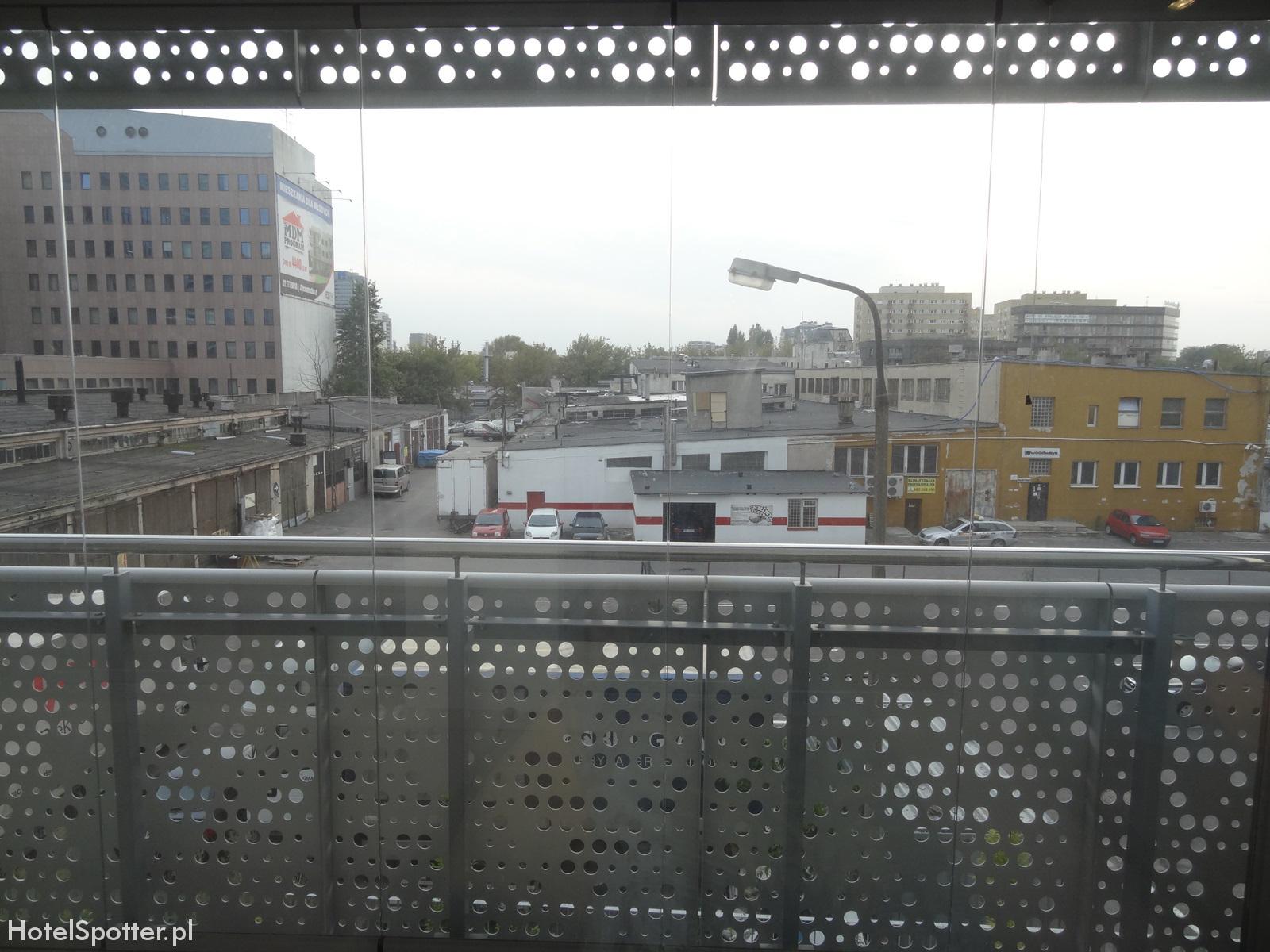 Oxygen Residence Warszawa Apartament Studio widok z okna