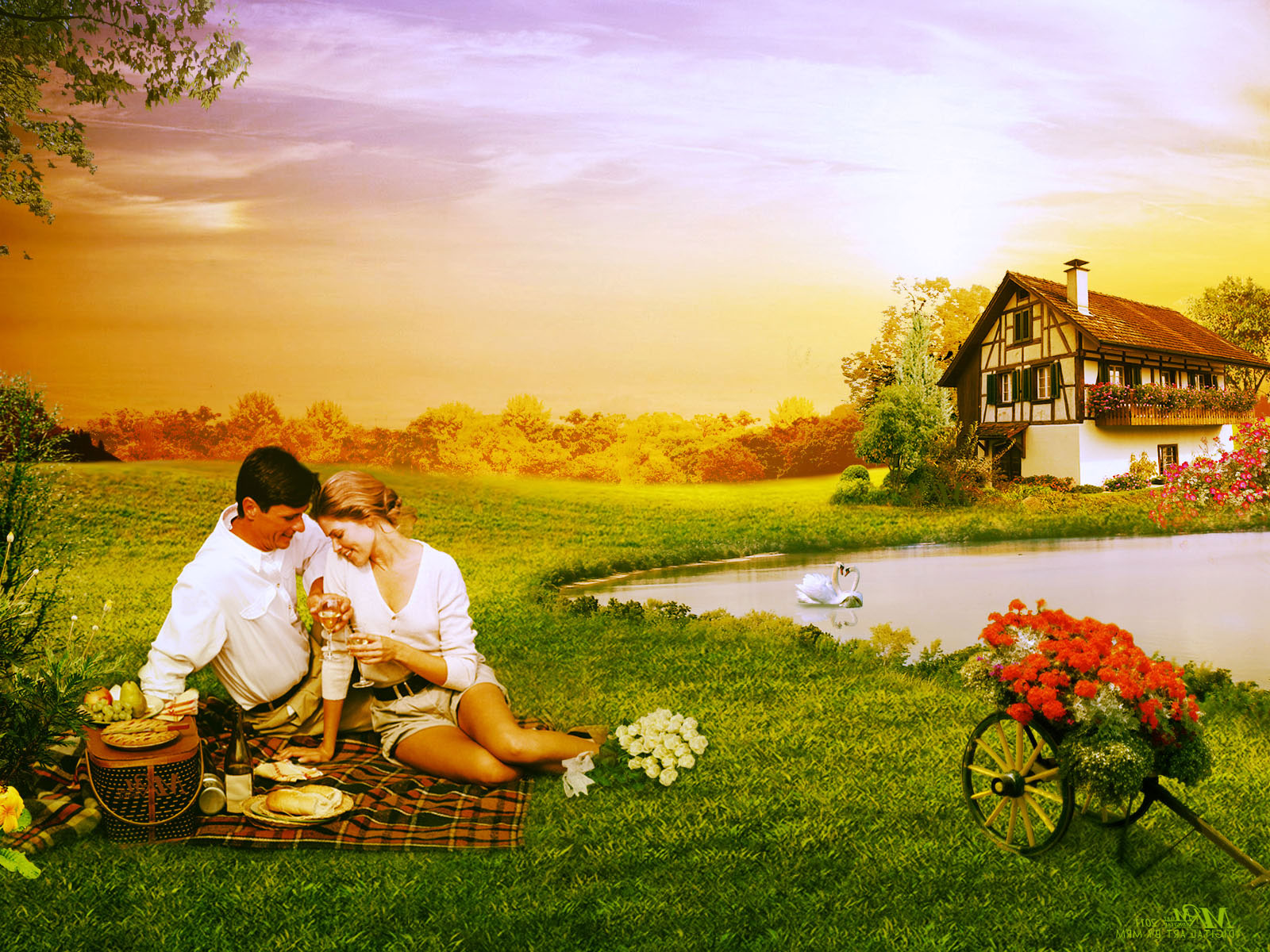 Beautiful Wallpaper Of Love couple : Valentine s Day Wallpaper - Graphista: couple in Love
