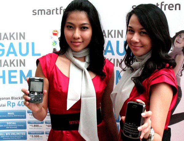 SPG menunjukkan BlackBerry SmartFren