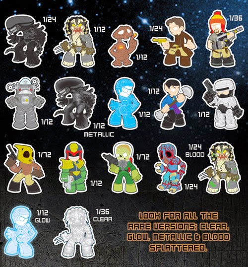 Classic Sci-Fi Mystery Minis Blind Box Series Checklist and Ratios by Funko
