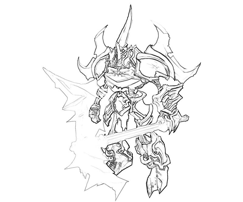 Printable Darksiders Monsters Coloring Pages title=