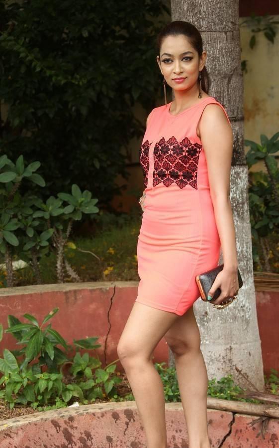 Actress Rashmi Thakur Latest Cute Hot Orange Red Mini Skirt Dress Spicy Thighs Show Photos Gallery