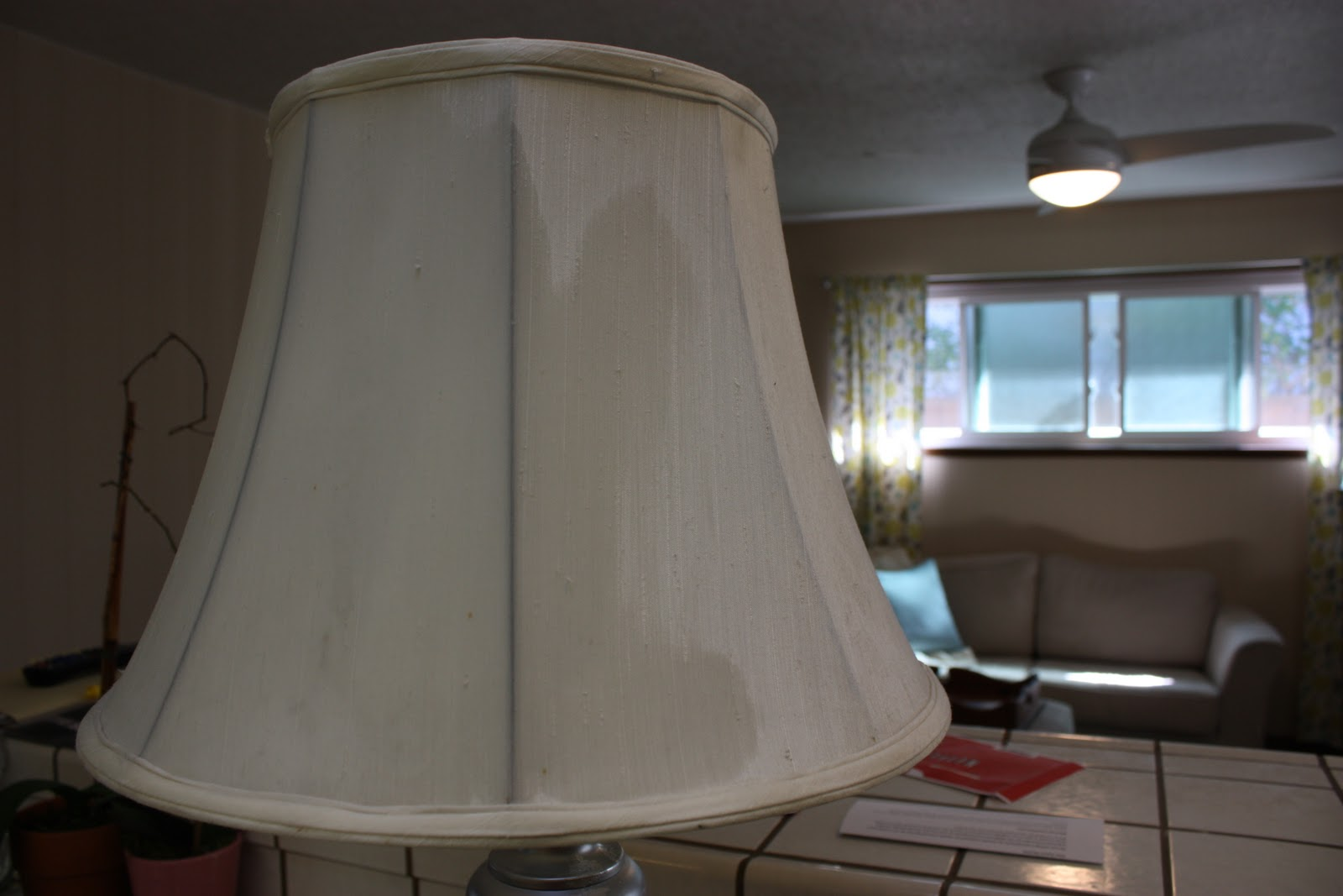 how to paint a lampshade painting fabric my name is. Black Bedroom Furniture Sets. Home Design Ideas