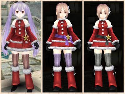 サンタ衣装 赤2、紫2、黒2