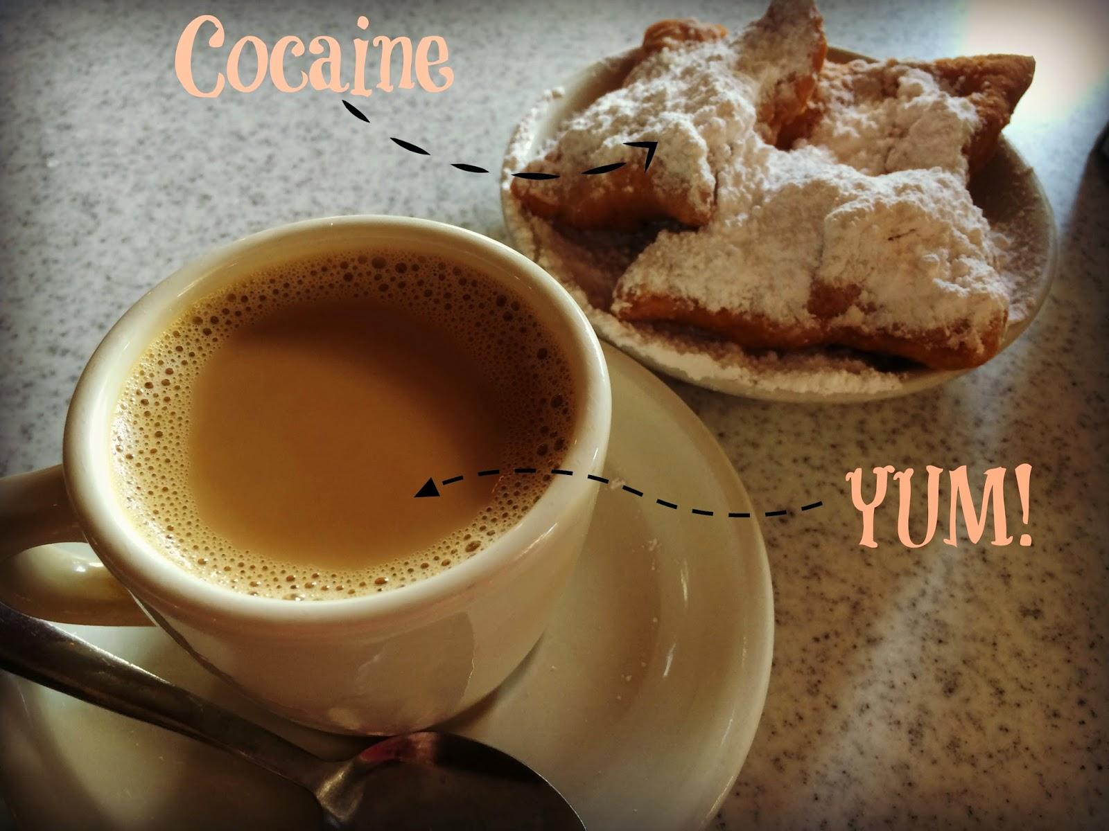 Coffee, beignets, breakfast, New Orleans, French Quarter, Cafe Du Monde