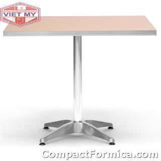 bàn ghế cà phê đẹp với tấm formica