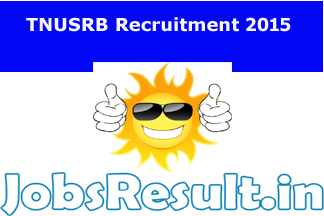 TNUSRB Recruitment 2015