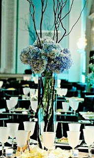 Aqua Blue Wedding centerpieces