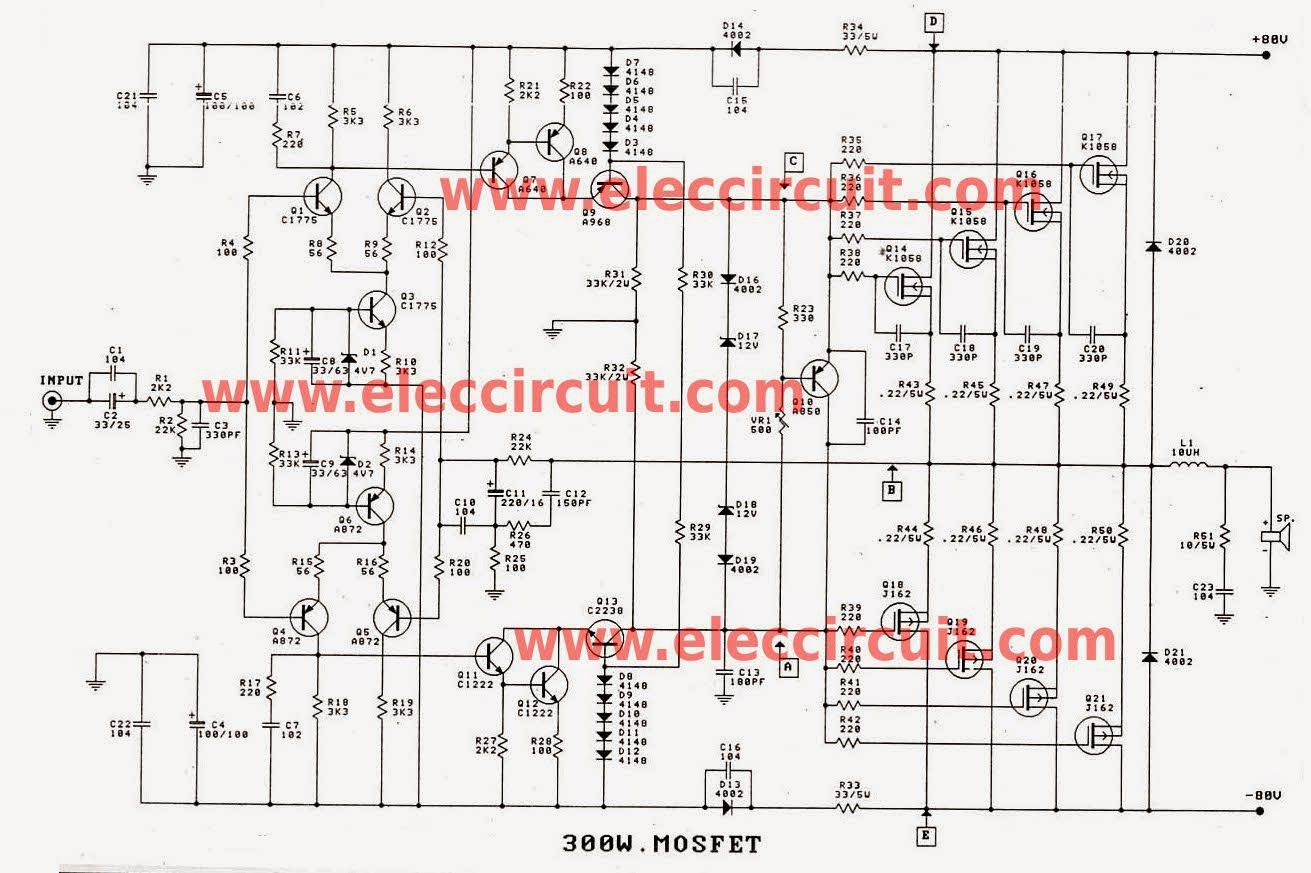 Tda7294 Bridge Power Amplifier Circuit Diagram Electronic Project When You Need An With High Watt For Use In Applications Such As Concert Theater The Festivals Etc This Is Most Suitable