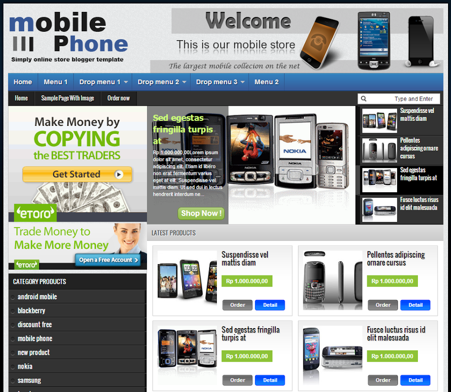 Share Template Shop Johny Joss Blogspot