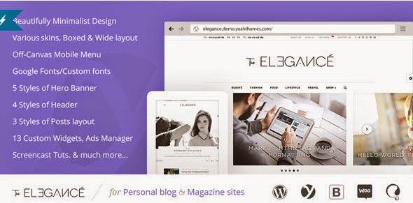 Elegance - A Flawlessly Minimalist Blogging theme