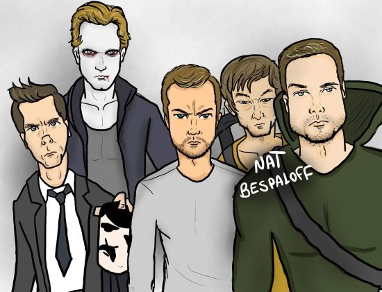 nat bespaloff natirinhas arrow eric true blood the following fringe peter bishop caricatura desenho