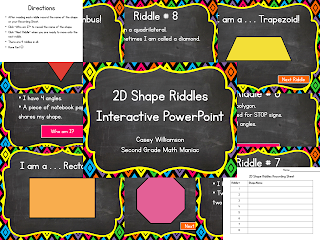 http://www.teacherspayteachers.com/Product/2D-Shape-Riddles-Interactive-PowerPoint-1044077