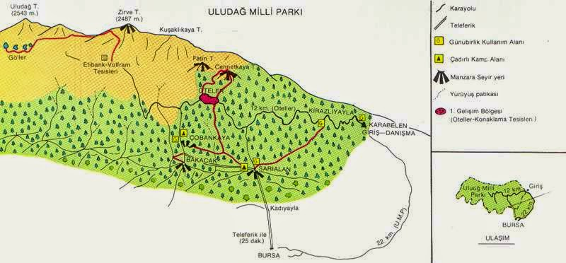 Uluda� Milli Park� Haritas�