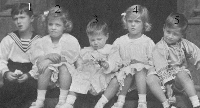 Alexis de Russie, Georg Donatus et Ludwig de Hesse et du Rhin, Margarita et Theodora de Grèce