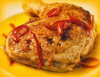 Piernas de pollo a la naranja
