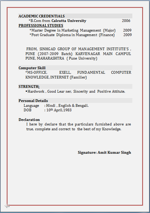 Sample resume prospect research