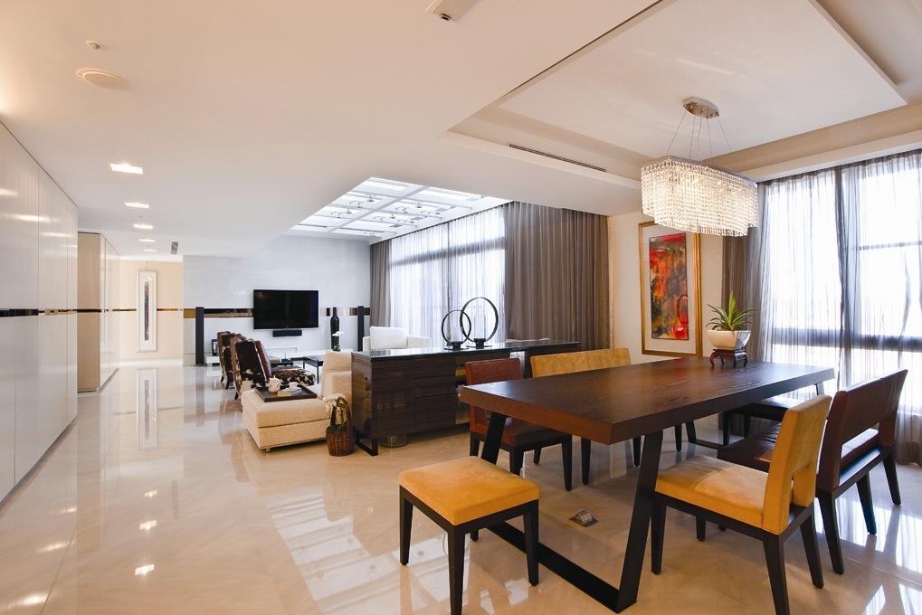 Espacios abiertos en la casa interiores por paulina for Living with dining room design ideas