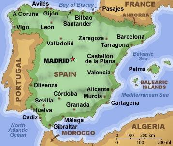 Mapa de España Imagen