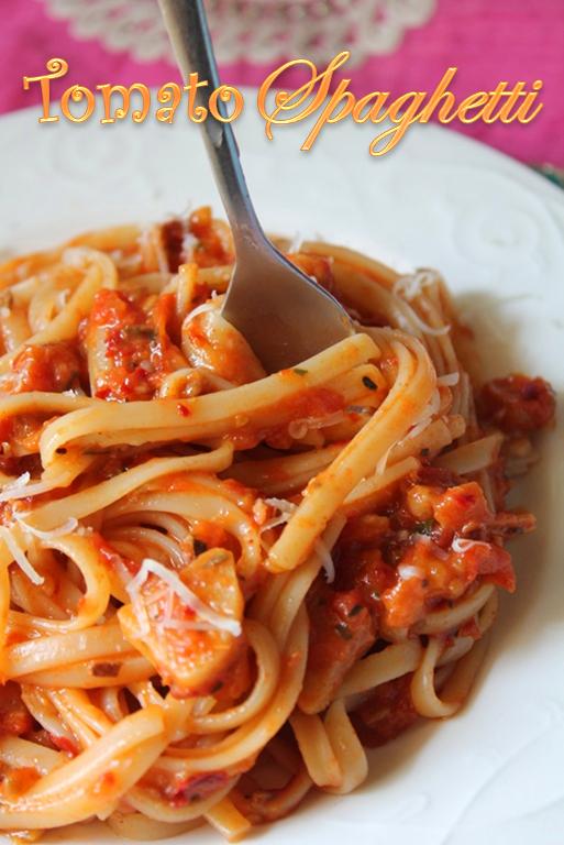 ... TUMMY: Spaghetti with Tomato Sauce Recipe / Tomato Spaghetti Recipe