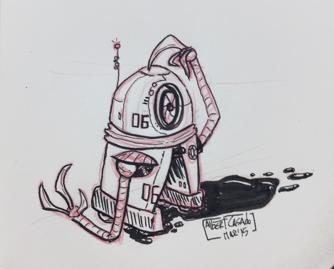 06 Robot - 100mechDrawings - Albert Casado
