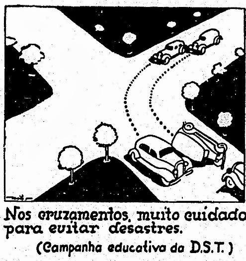 Propaganda de educação no trânsito na década de 30 - 1936.