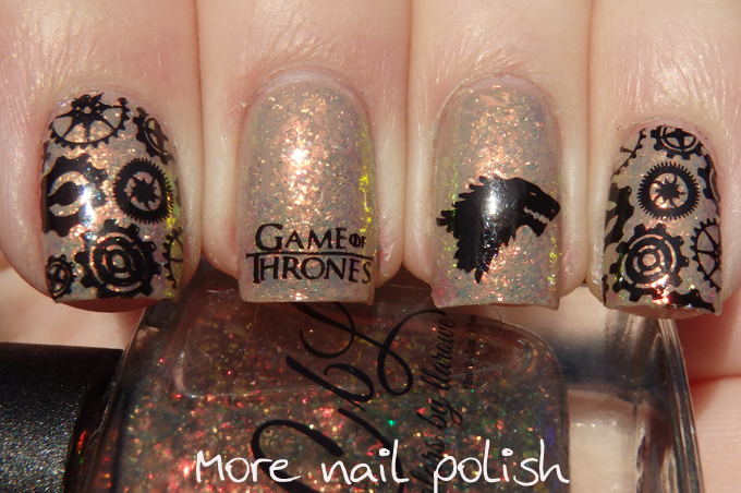 Game of thrones nail art featuring colors by llarowe mine is nine game of thrones nail art featuring colors by llarowe mine is nine more nail polish prinsesfo Choice Image