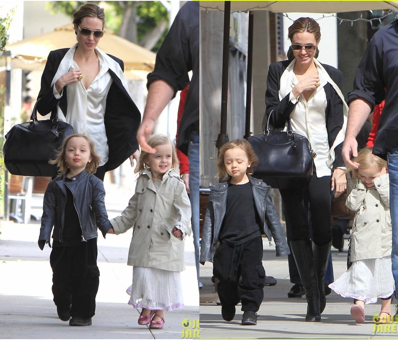 Angelina Jolie Tatlı Ikizleri Knox Ve Vivienne Ile Alışveriş