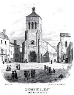patrimoine de l'Allier clocher de Cusset
