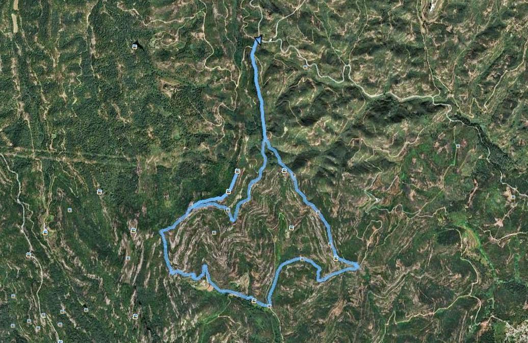 Recorregut: Coll de la Caseta (Carretera B-124)-Roca Sareny